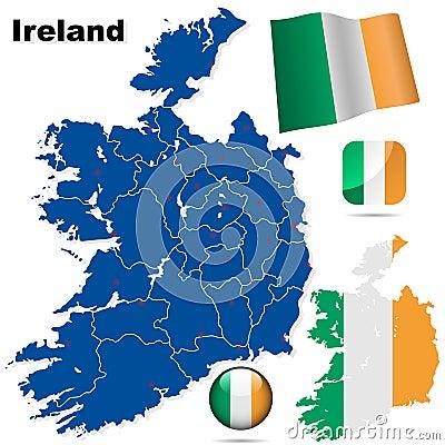 Ireland vector set.