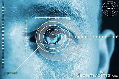 Iris eye scan