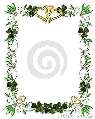 Free Irish Border Wedding Template Royalty Free Stock Photo - 4489565