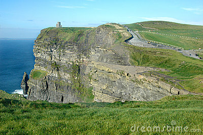 Irish Castle on cliff