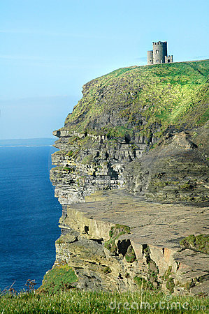 Irish Castle Cliffs of Moher