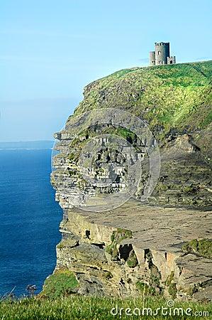 Irish Castle Cliffs of Moher