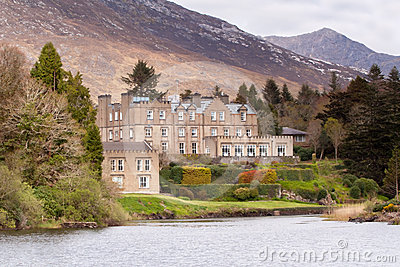 Irish castle in Connemara mountains Editorial Photo