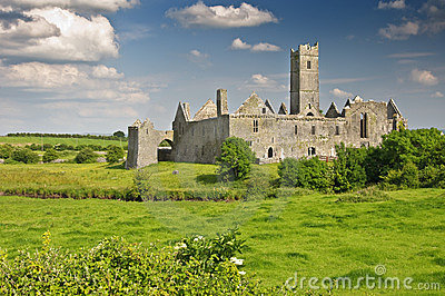 Irish castle in county clare, ireland
