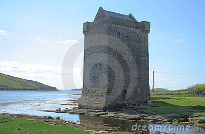 Irish castle scene