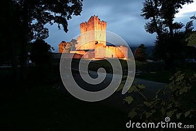 Irish castle view