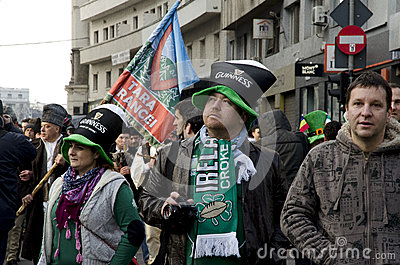 Saint Patricks Day in Bucharest 5 Editorial Photo