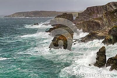 Irish cliffs at Mizen Head
