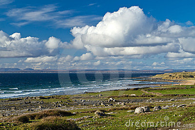Irish coast of Burren