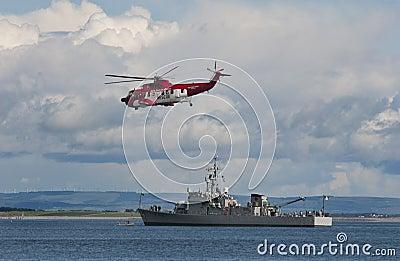 Irish Coast Guard and navy Editorial Photo