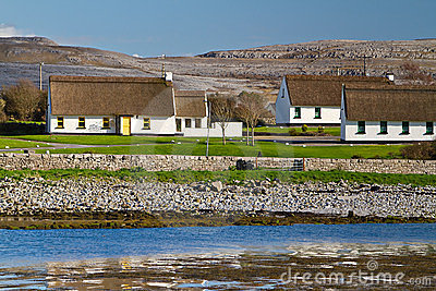 Irish cottage houses in Burren