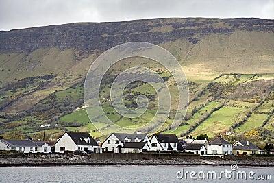 Irish cottages and landscape
