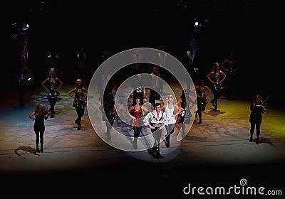 Irish dance troupe performance Editorial Stock Image