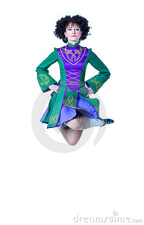 Irish dancer jumping