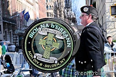Irish Drumer Editorial Photo