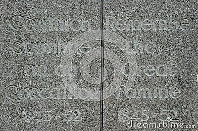 Irish Famine Monument
