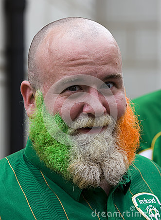 Irish fan in Poznan. Editorial Photo