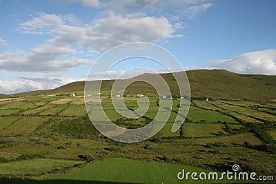 Irish farmland, kerry county