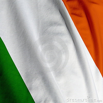 Irish Flag Closeup