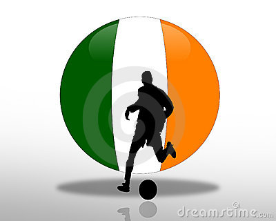Irish flag Football Soccer Logo