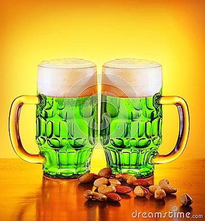 Irish green beer