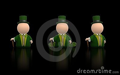 Irish icon for St Patricks day - black version