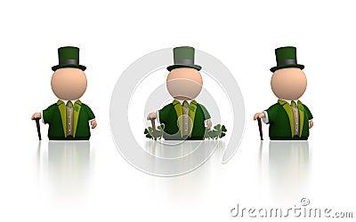 Irish icon for St Patricks day - white version
