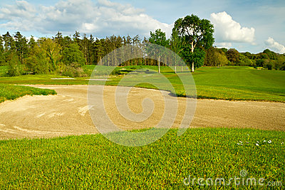 Irish idyllic golf course