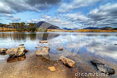 Irish lake of Connemara