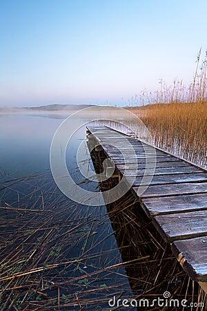 Irish lake at dawn