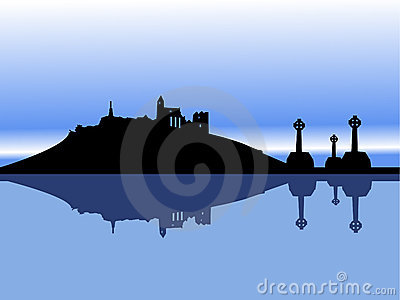 Irish landscape vector