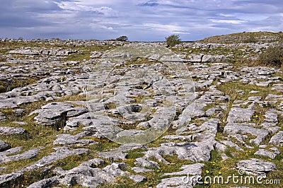 Irish limestone landscape