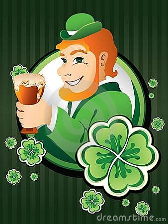 Irish man with beer