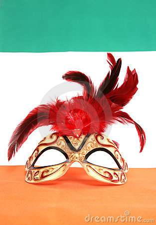 Irish masquerade mask
