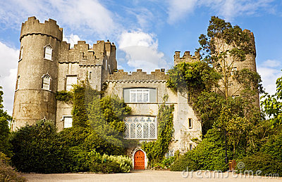 Irish Medieval Castle at Malahide in Dublin