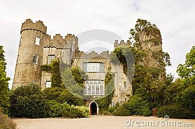 Irish medieval castle at Malahide in Dublin