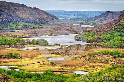 Irish mountains of Killarney pass
