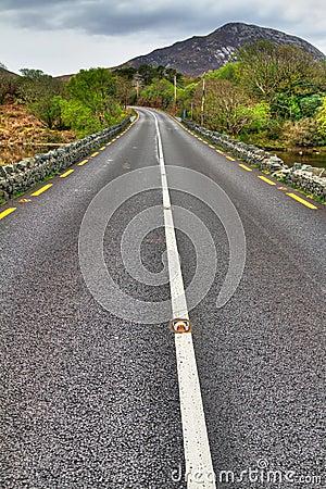 Irish road at mountains