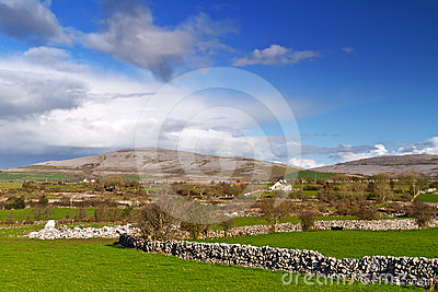 Irish scenery of Burren