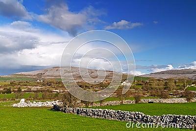 Irish scenery of Burren