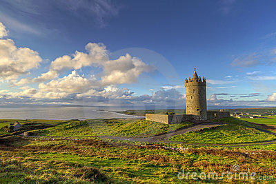 Irish scenery with castle
