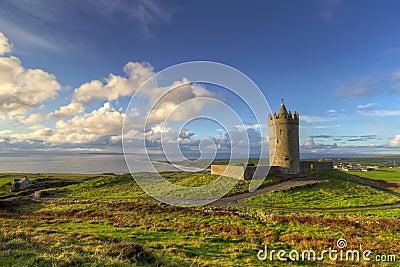 Irish scenery with castle