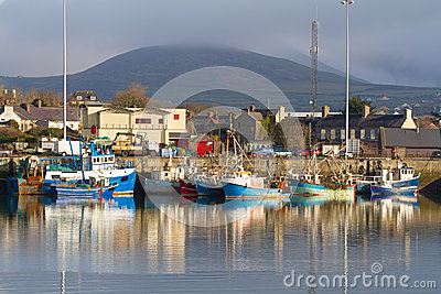 Irish seaport scenery in Dingle