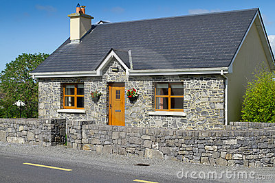Irish stone cottage house