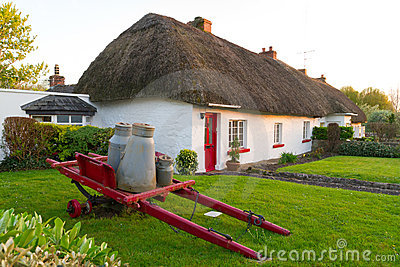 Irish traditional cottage house