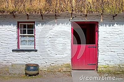 Irish traditional cottage house of  Bunratty.