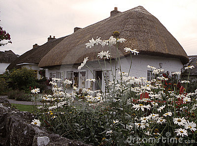 irish village  cottage ,Adare Ireland