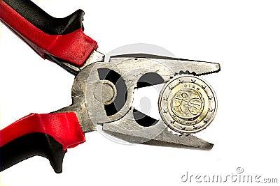 Irländskt tryck för euro under