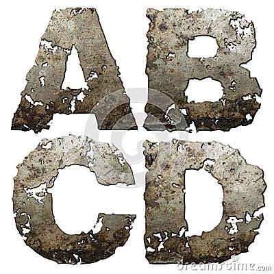 Iron alphabet.