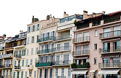 Iron Balconies on Pink Buildings